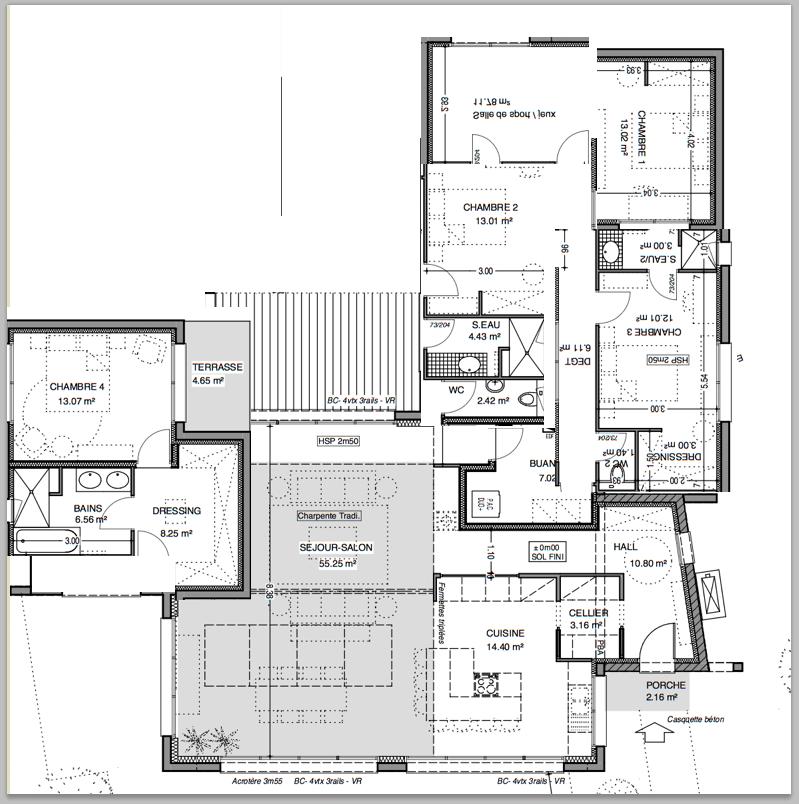Avis plan maison environ 200 m2 66 messages page 4 for Maison en u plan